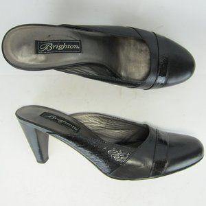 "Brighton Bloom US 9M Women Slide Heel Cap Toe 3.2"""